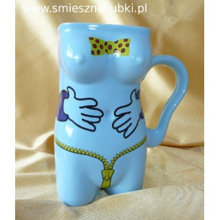 Kubek ceramiczny  damski łapki