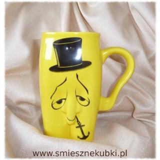 kubki ceramiczne - męskie-pan kotwiczka- żółty