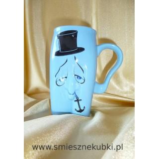 kubki ceramiczne - męskie-pan kotwiczka -niebieski