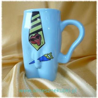 Kubki ceramiczne - męskie-Krawat- niebieski