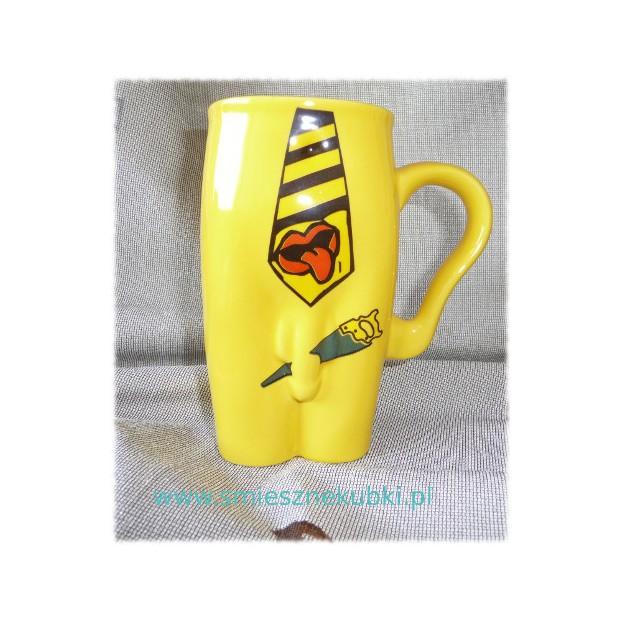 Kubki ceramiczne - męskie-Krawat- żółty