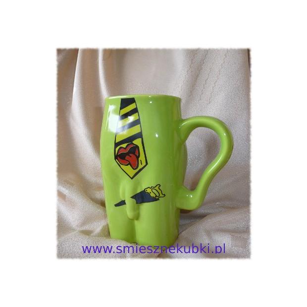 Kubki ceramiczne - męskie-Krawat- zielony