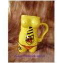 Kubek ceramiczny  damski Krawat żółty
