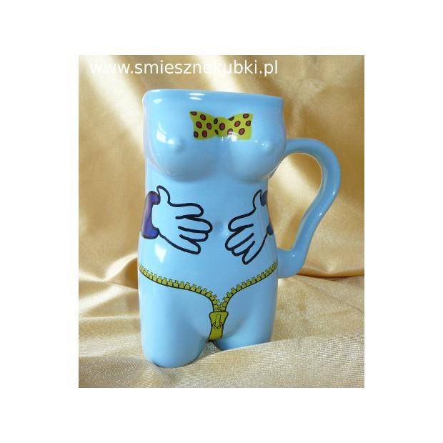 Kubek ceramiczny - damski -łapki