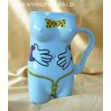Kubek ceramiczny  damski łapki-seria z napisem