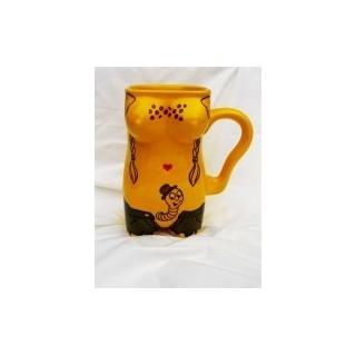 Kubek ceramiczny  damski  Robaczek żółty