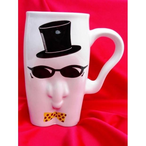 Kkubki ceramiczne - męskie-facet w okularach