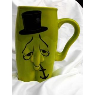 kubki ceramiczne - męskie-pan kotwiczka zielony